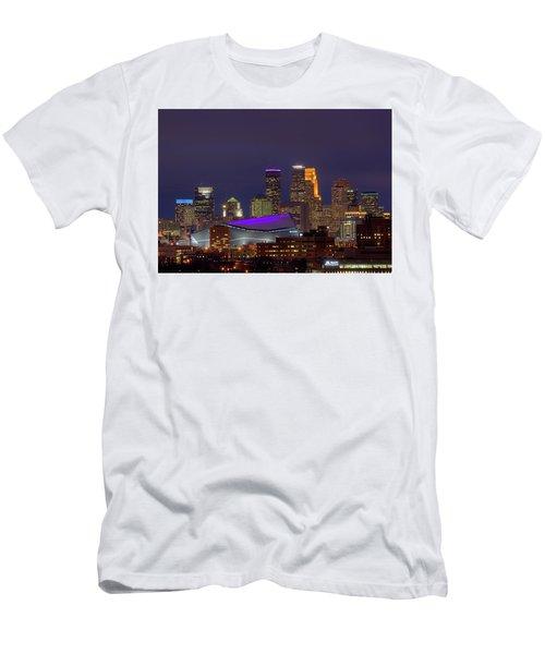 Usbank Stadium Dressed In Purple Men's T-Shirt (Athletic Fit)