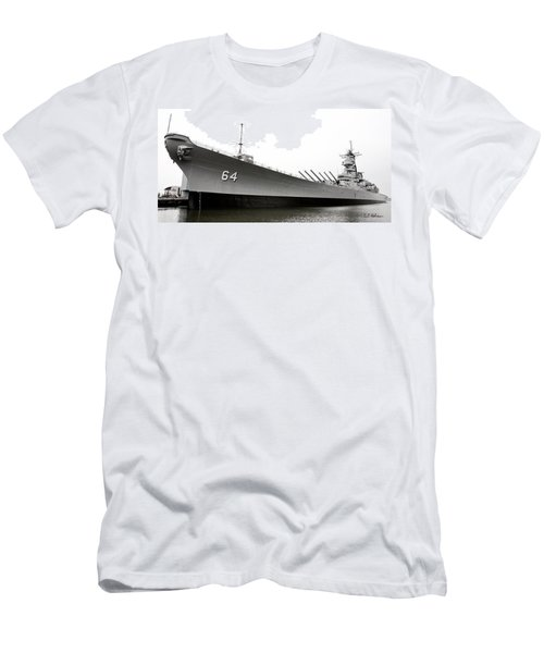 Uss Wisconsin - Port-side Men's T-Shirt (Athletic Fit)