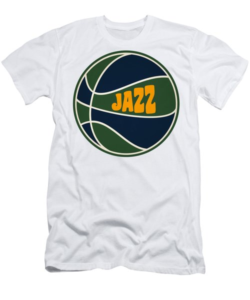 Utah Jazz Retro Shirt Men's T-Shirt (Slim Fit) by Joe Hamilton
