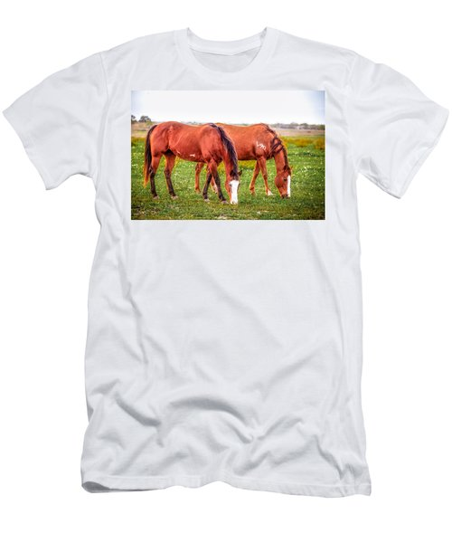Men's T-Shirt (Athletic Fit) featuring the photograph V90 Over For Dinner by Melinda Ledsome