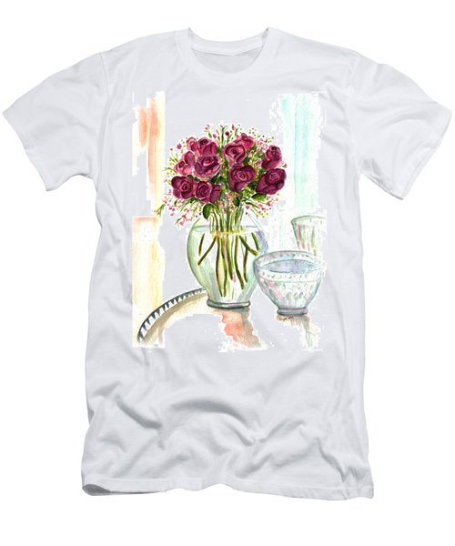 Valentines Crystal Rose Men's T-Shirt (Athletic Fit)