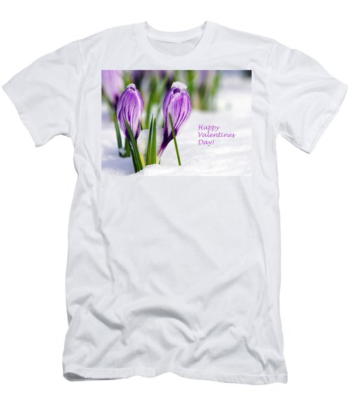 Valentines Day Crocuses Men's T-Shirt (Athletic Fit)