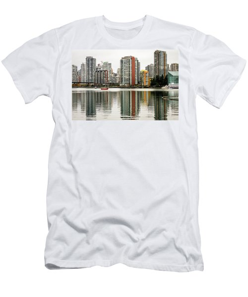 Vancouver Bc Sky Line Men's T-Shirt (Athletic Fit)