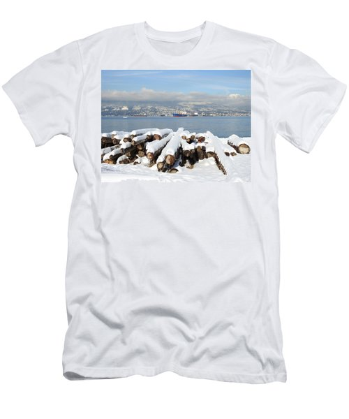 Vancouver Winter Men's T-Shirt (Slim Fit) by Brian Chase