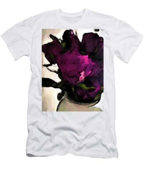 Vase Of Roses With Shadows 1 Men's T-Shirt (Athletic Fit)