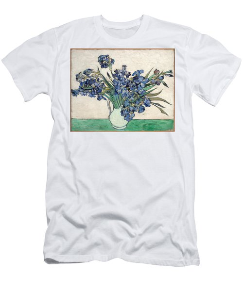 Men's T-Shirt (Athletic Fit) featuring the painting Vase With Irises by Van Gogh