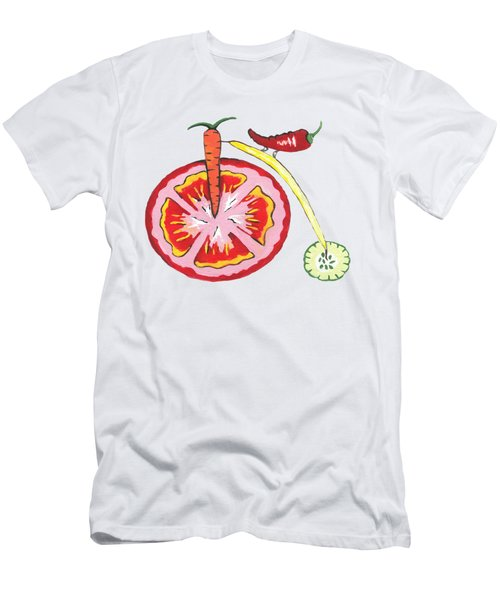 Veggie Bike Men's T-Shirt (Slim Fit) by Kathleen Sartoris