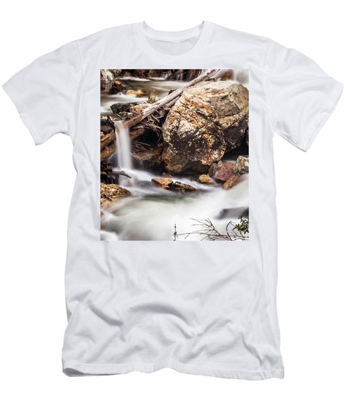 Velvet Falls - Rocky Mountain Stream Men's T-Shirt (Athletic Fit)