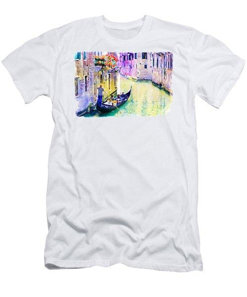 Venice Canal Men's T-Shirt (Slim Fit) by Marian Voicu