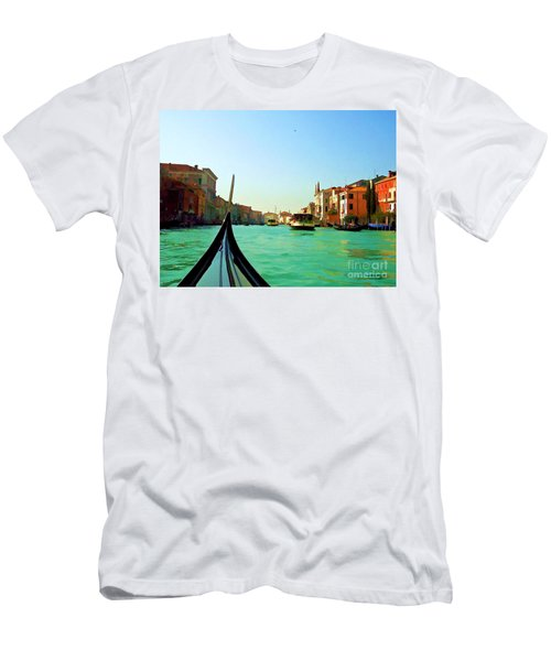 Men's T-Shirt (Slim Fit) featuring the photograph Venice Waterway by Roberta Byram