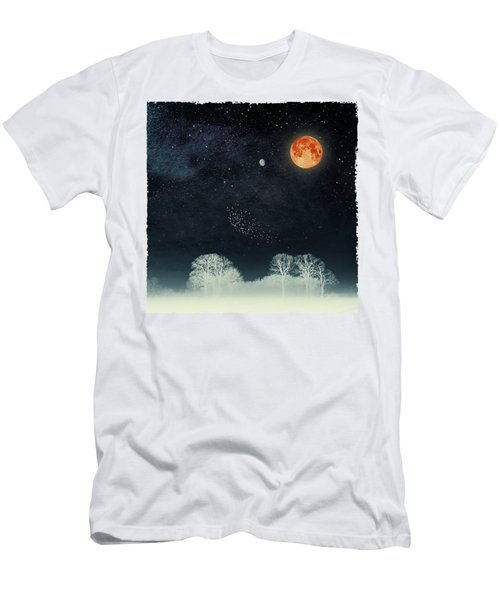 Venus And Moon Night Men's T-Shirt (Athletic Fit)