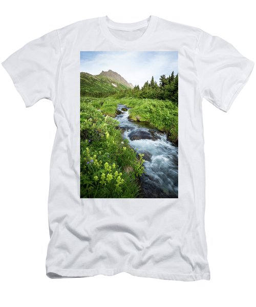 Verdant Mountain Stream Men's T-Shirt (Athletic Fit)