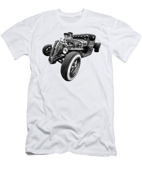 Vermin's Diner Rat Rod Front In Black And White Men's T-Shirt (Athletic Fit)