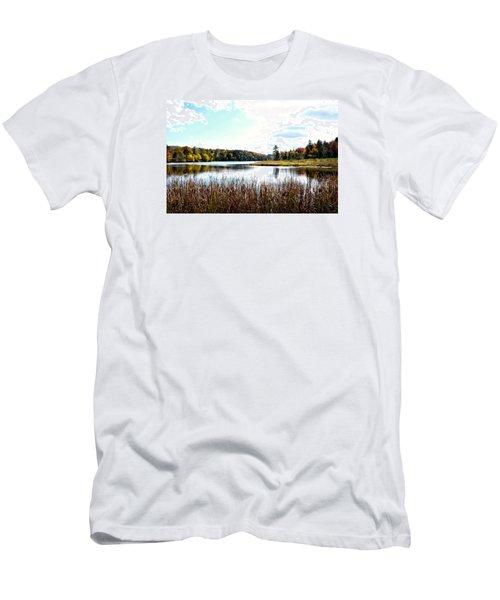 Vermont Scenery Men's T-Shirt (Slim Fit) by Rena Trepanier