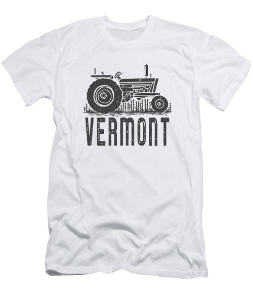 Vermont Vintage Tractor Tee Men's T-Shirt (Athletic Fit)