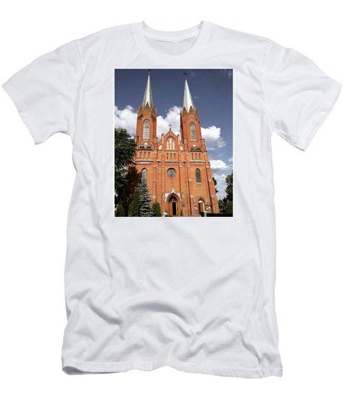 Very Old Church In Odrzywol, Poland Men's T-Shirt (Slim Fit) by Arletta Cwalina
