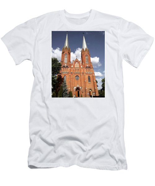 Very Old Church In Odrzywol, Poland Men's T-Shirt (Athletic Fit)
