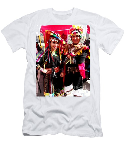 Very Proud Bolivian Dancers Men's T-Shirt (Athletic Fit)