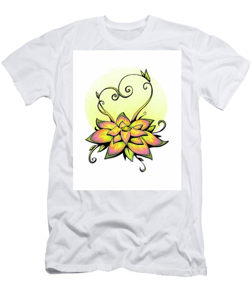 Vibrant Flower 8 Men's T-Shirt (Athletic Fit)
