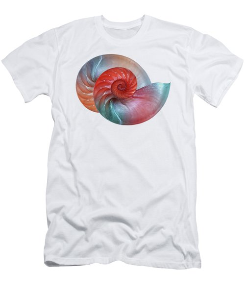Vibrant Nautilus Pair - Horizontal Men's T-Shirt (Athletic Fit)