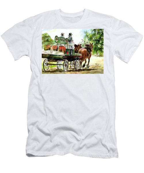 Men's T-Shirt (Athletic Fit) featuring the painting Victoria Bitter, Working Clydesdales. by Ryn Shell
