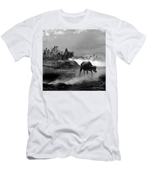 Men's T-Shirt (Athletic Fit) featuring the photograph Vietnamese Water Buffalo  by Silva Wischeropp