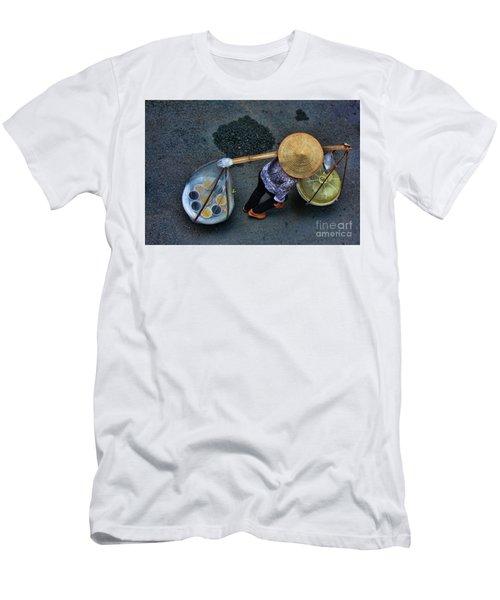 Vietnamese Woman Work Men's T-Shirt (Slim Fit) by Chuck Kuhn