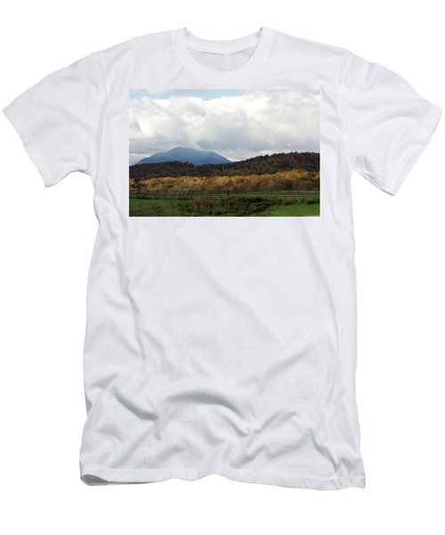 View Of Sharp Top In Blue Ridge Mountains Men's T-Shirt (Athletic Fit)