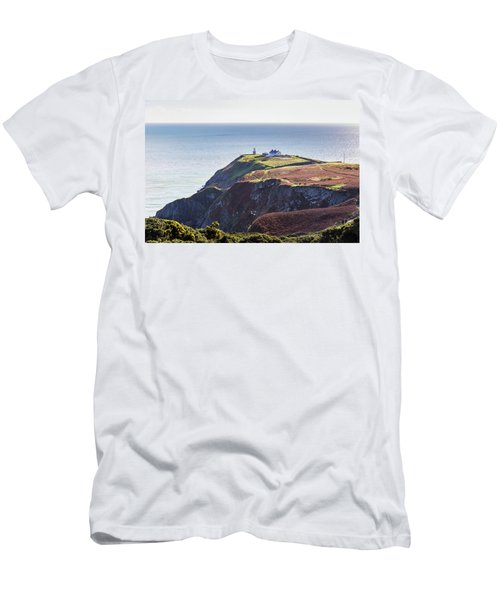 Men's T-Shirt (Slim Fit) featuring the photograph View Of The Trails On Howth Cliffs And Howth Head In Ireland by Semmick Photo