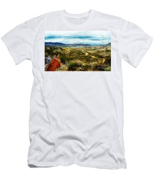 View Of Vail Lake On Horseback Men's T-Shirt (Athletic Fit)