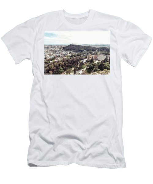 Men's T-Shirt (Athletic Fit) featuring the photograph View Over Athens by Michael Maximillian Hermansen