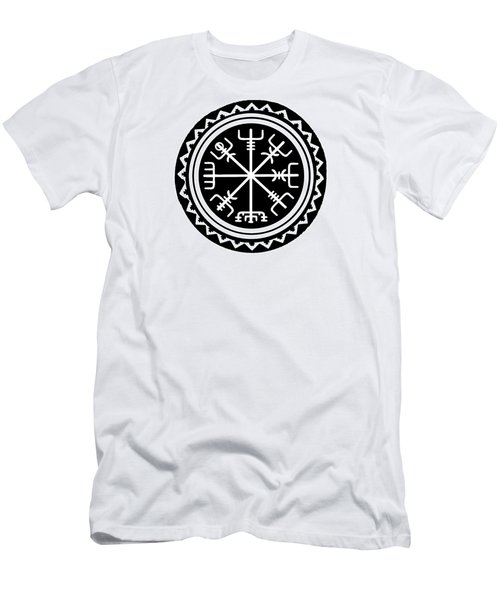 Men's T-Shirt (Athletic Fit) featuring the digital art Viking Vegvisir Compass by Vagabond Folk Art - Virginia Vivier
