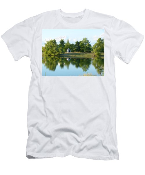 Village In Ohio Men's T-Shirt (Slim Fit) by Donald C Morgan