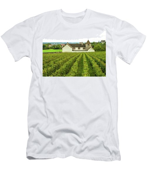 Vineyard In France Men's T-Shirt (Slim Fit) by Jim Mathis