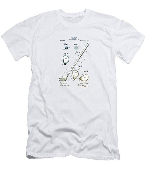 Vintage 1910 Golf Club Patent Men's T-Shirt (Athletic Fit)