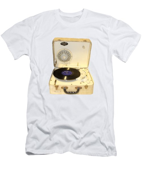Vintage 1950s Record Player And Vinyl Record Men's T-Shirt (Slim Fit) by Tom Conway