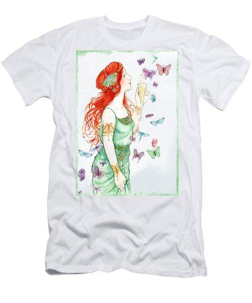 Vintage Art Nouveau Lady Party Time Men's T-Shirt (Athletic Fit)