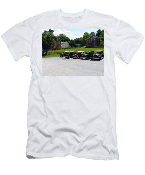 Men's T-Shirt (Slim Fit) featuring the photograph Vintage Auto Display by Donald C Morgan