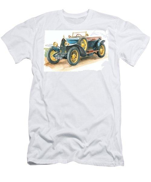 Vintage Blue Bugatti Classic Car Men's T-Shirt (Athletic Fit)