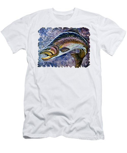 Vintage Blue Trout Fresco  Men's T-Shirt (Athletic Fit)
