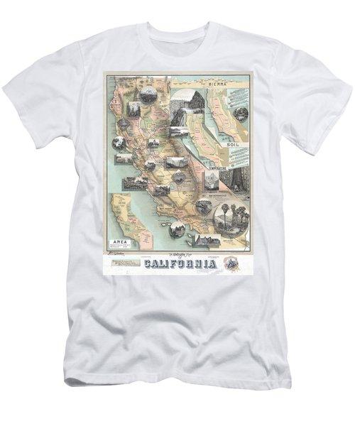 Vintage California Map Men's T-Shirt (Athletic Fit)