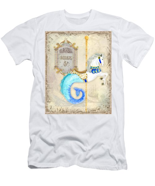 Vintage Circus Carousel - Seahorse Men's T-Shirt (Athletic Fit)