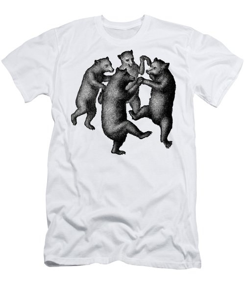 Vintage Dancing Bears Men's T-Shirt (Athletic Fit)