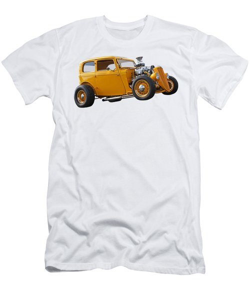 Vintage Ford Hot Rod In Yellow Men's T-Shirt (Athletic Fit)