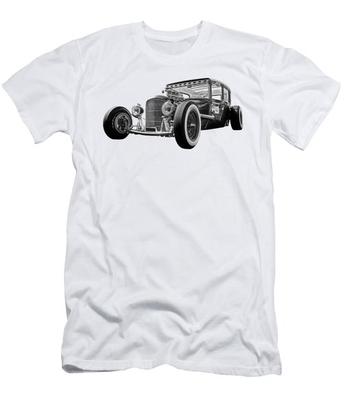 Vintage Hot Rod In Black And White Men's T-Shirt (Athletic Fit)