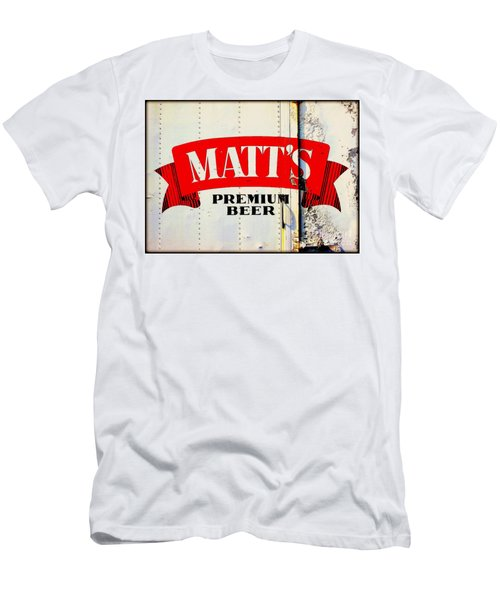 Vintage Matt's Premium Beer Sign Men's T-Shirt (Athletic Fit)