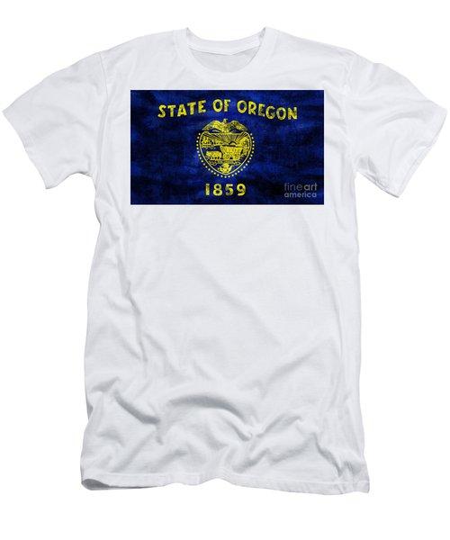 Vintage Oregon Flag Men's T-Shirt (Athletic Fit)