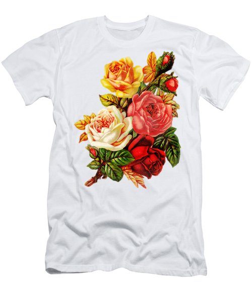Vintage Rose I Men's T-Shirt (Athletic Fit)
