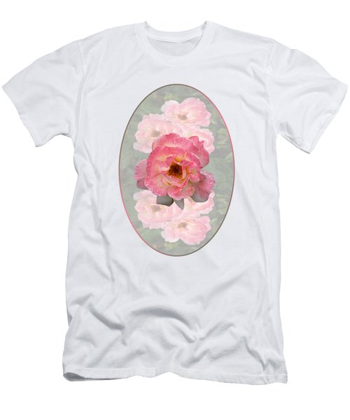 Vintage Rose Vertical Men's T-Shirt (Athletic Fit)