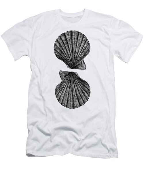 Men's T-Shirt (Slim Fit) featuring the photograph Vintage Scallop Shells by Edward Fielding